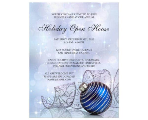 Business Holiday Open House Flyer Template