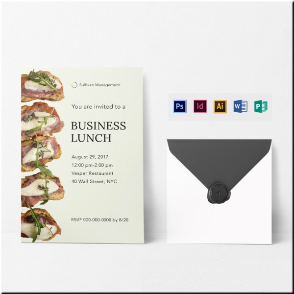 business lunch event invitation example