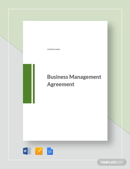 business management agreement 2