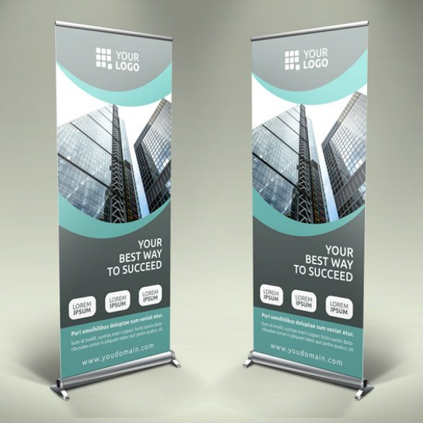 business marketing roll up banner template