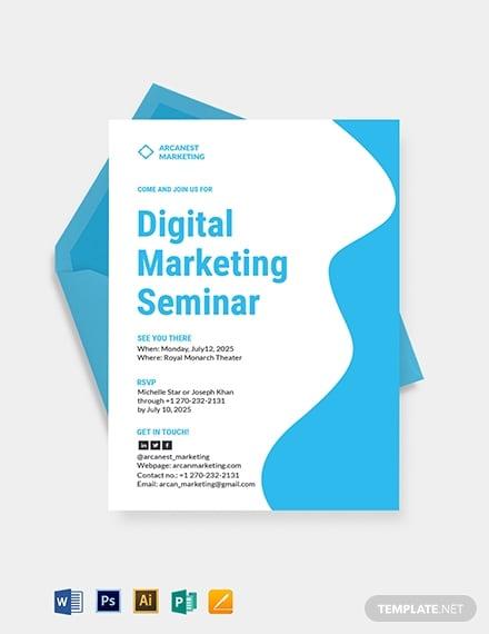 business marketing seminar invitation example