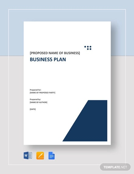 29 Business Plan Templates Sample Word Google Docs