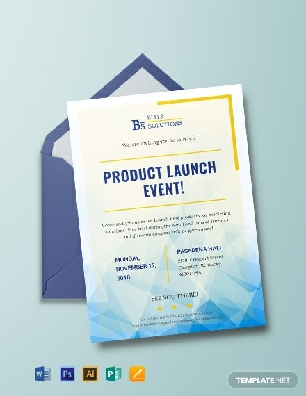 business product launch invitation format