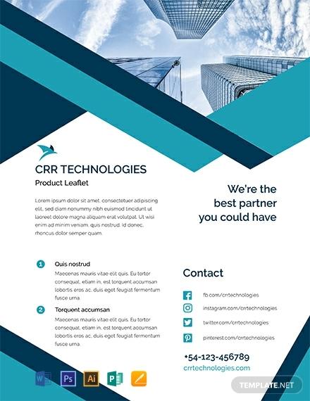 business product marketing leaflet format