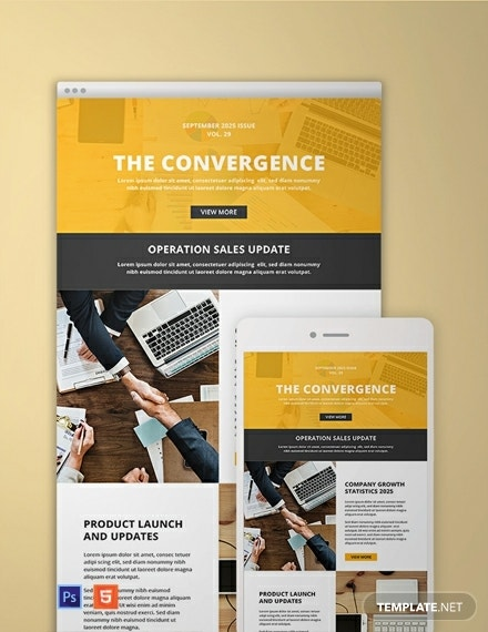 business sales email newsletter template