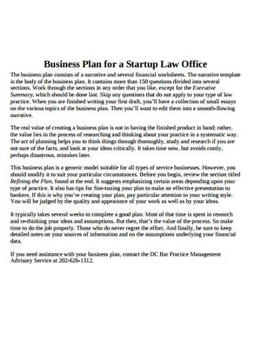 business startup plan formats