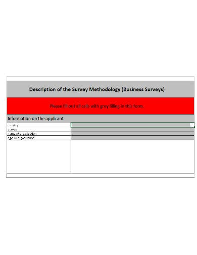 business survey template in xls