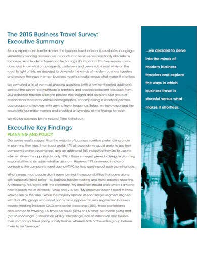 business travel survey template