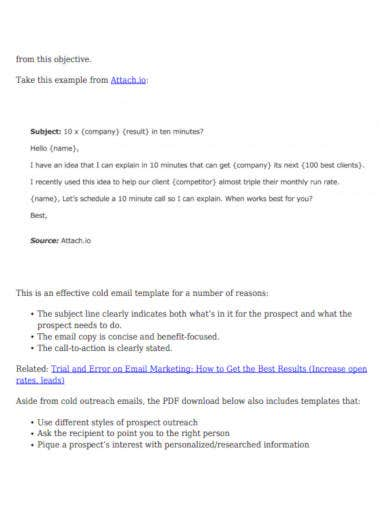business to business sales email template