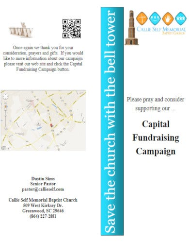 capital fundraising brochure sample