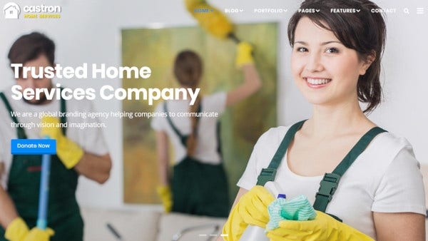 castron home services bootstrap 3 wordpress theme