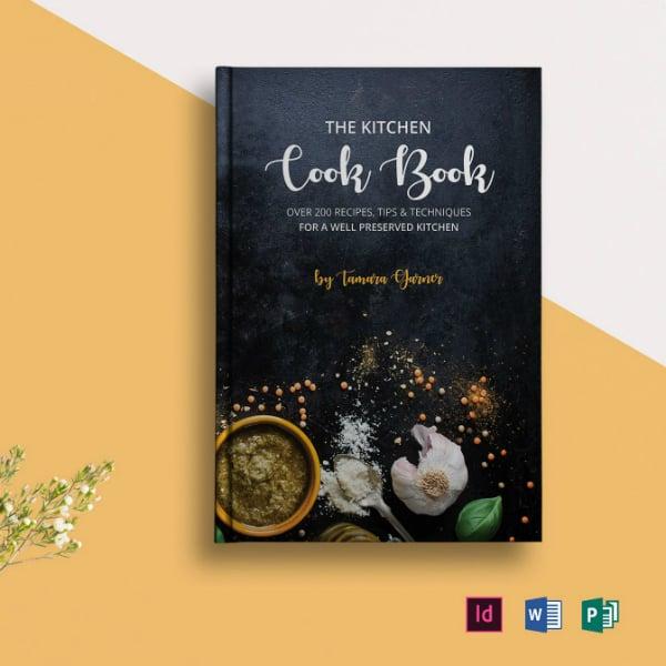 chalkboard cookery book catalog design