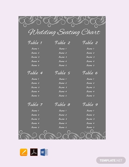 chalkboard wedding seating plan template