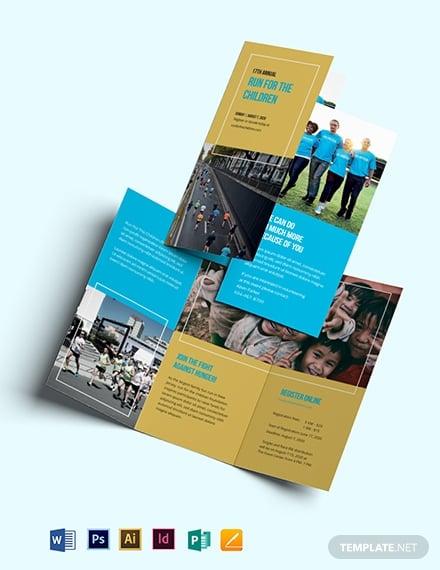 charity event tri fold brochure design