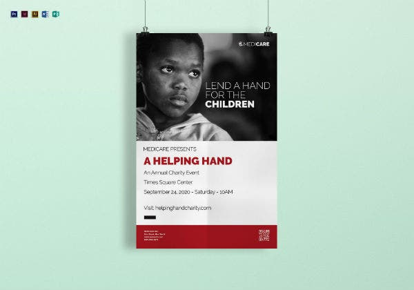 charity poster mockup