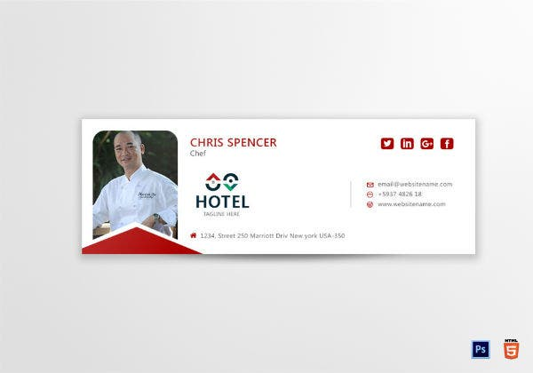 chef email signature template