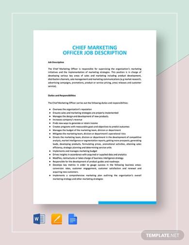 chief marketing officer job description template1