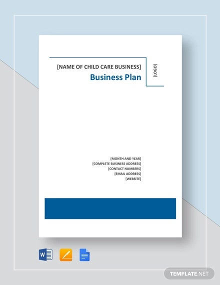 Daycare Business Plan Template 14 Free Word Excel Pdf