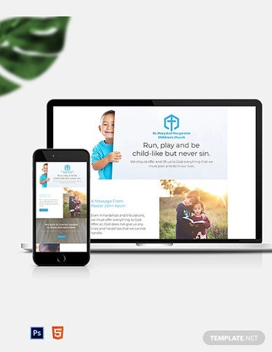 childrens church newsletter template