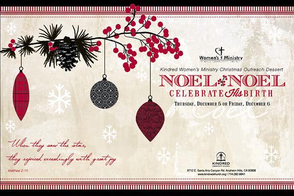 christmas event church invitation