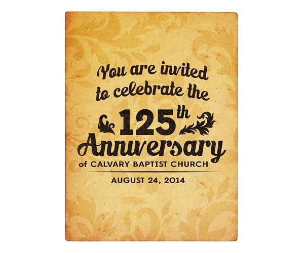 church anniversary invitation design
