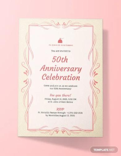 church anniversary invitation template1