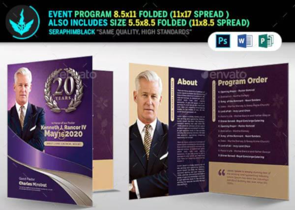 church anniversary program design