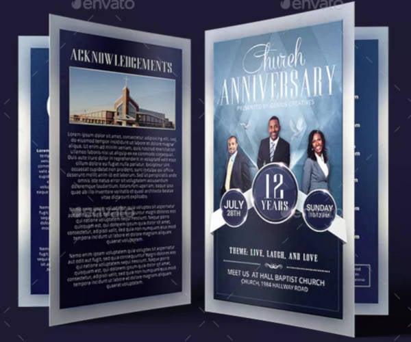 church anniversary program in psd