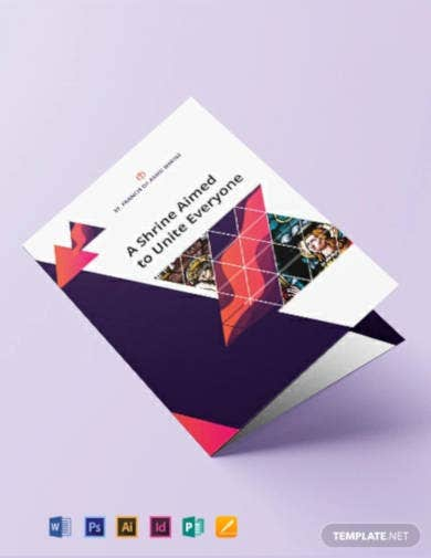 church bi fold brochure