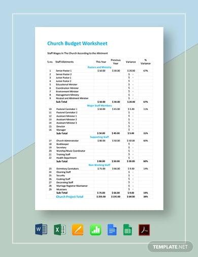 church-budget-worksheet