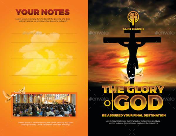 church bulletin bifold brochure