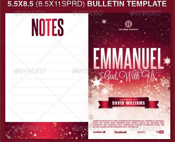 church bulletin template in psd