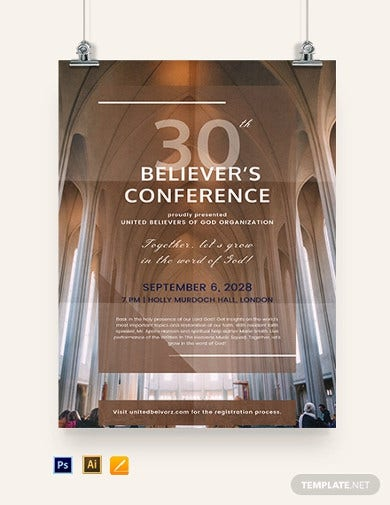 church conference poster template
