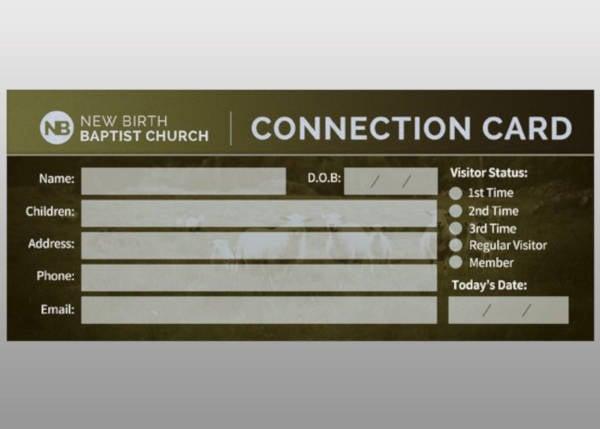 church connection card sample