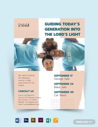 church fundraiser event flyer template