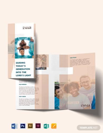 church fundraiser tri fold brochure template