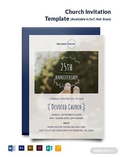 church invitation template