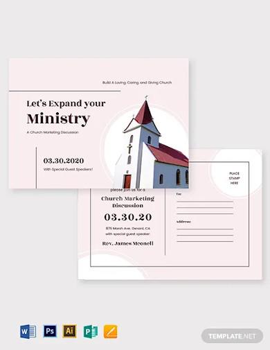 church marketing postcard template