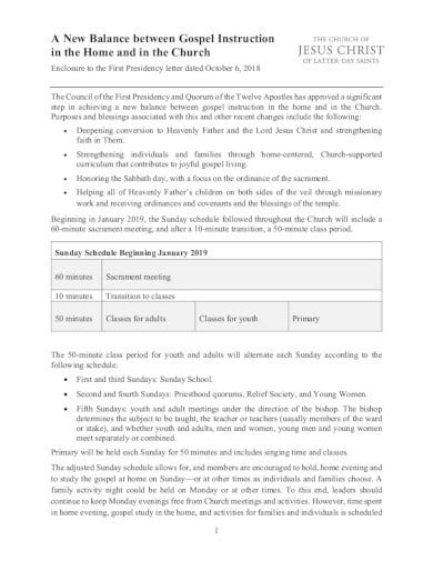 church schedule template example