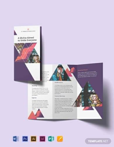 church tri fold brochure template