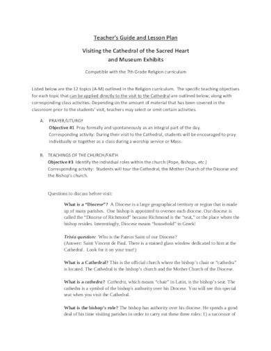 16+ Church Lesson Plan Templates - PDF | Free & Premium