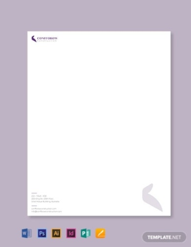 civil contractor letterhead template1