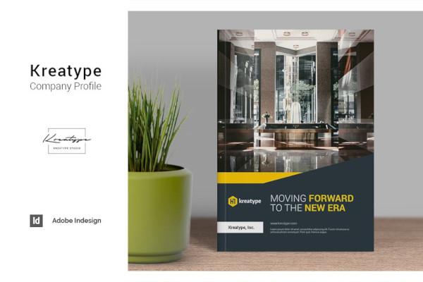 classic company profile in vector eps