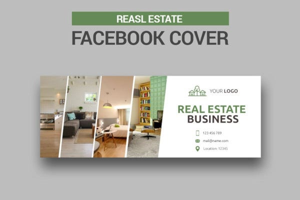 classic real estate facebook cover templates