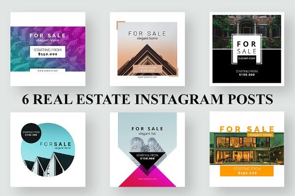 classic real estate instagram design