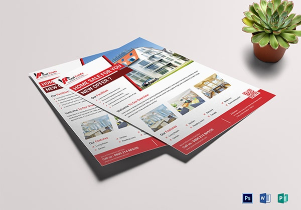 classic real estate sales flyer template