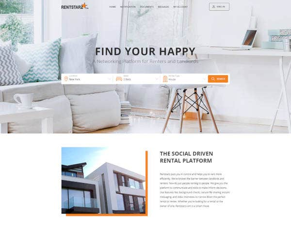 classy real estate portfolio