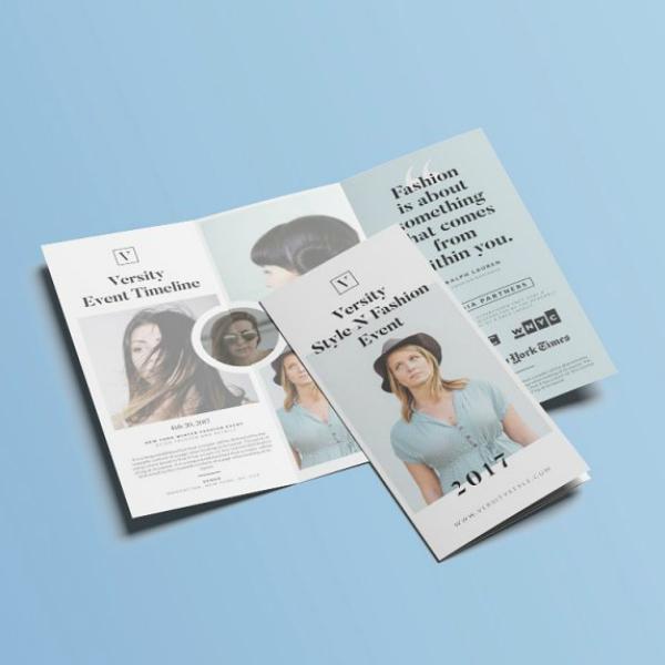 clean fashion event brochure template