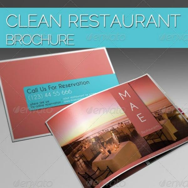 clean landscape restaurant brochure template