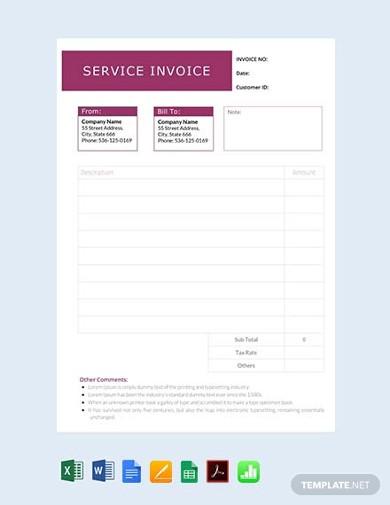 clean service invoice template1